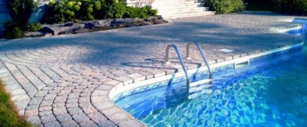 Pool deck repair resurfacing texas concrete stamp acrylic lace pavers slate pavers - Cool backyard swimming pools ...
