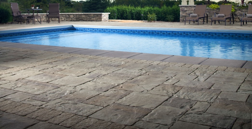 pool deck repair, resurfacing texas - concrete stamp, acrylic lace